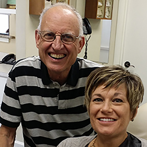 Patient is all smiles with Dr. Wiggins
